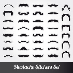 Set of moustache vector
