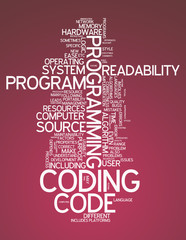 "Word Cloud ""Coding"""