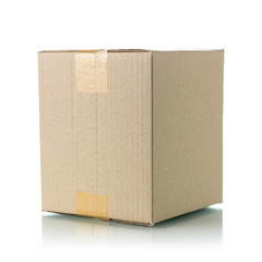 Brown cardboard box