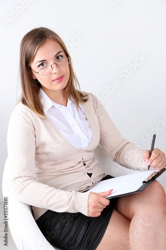 Portrait of successful psychologist or businesswoman