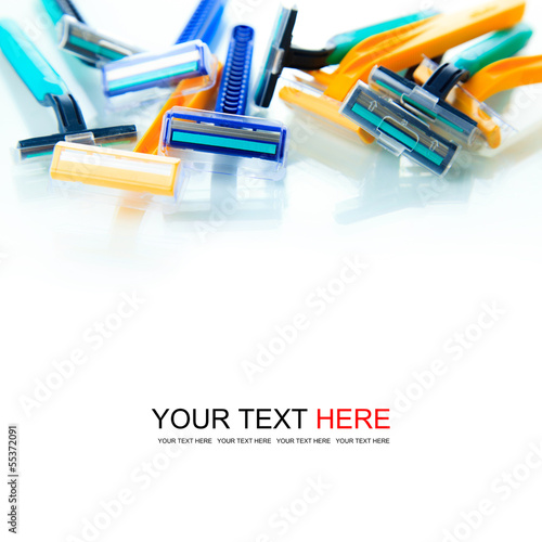 Colorful razor