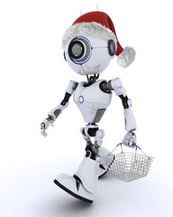 Robot christmas shopping