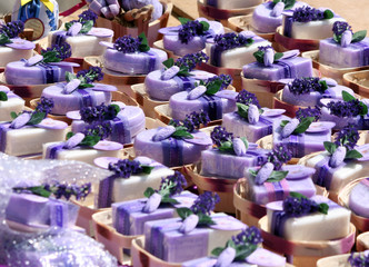 lavender soap market in provence, france