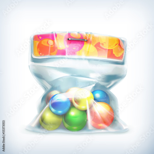 Balls in small plastic bag