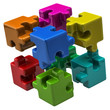 Colorful puzzle cube