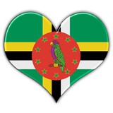 Heart with flag of Dominica
