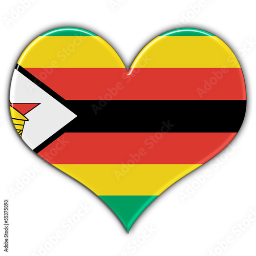 Heart with flag of Zimbabwe