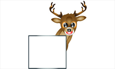 Animal. Deer 2. Deer With Whiteboard