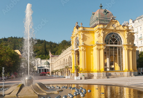 Tuinposter Fontaine Singing Fountain, Marianske Lazne