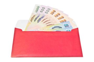 Money gift in envelope