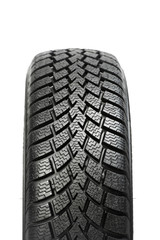 One automobile car wheel winter tyre isolated