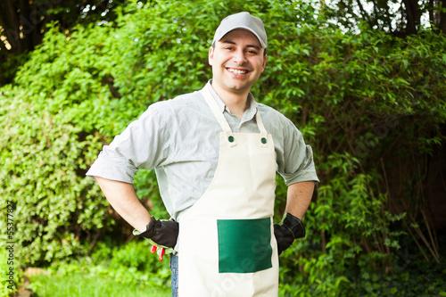 Gardener portrait