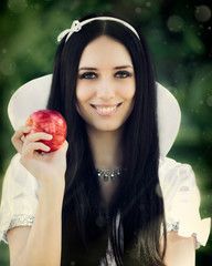 Snow-White with the Famous Red Apple.