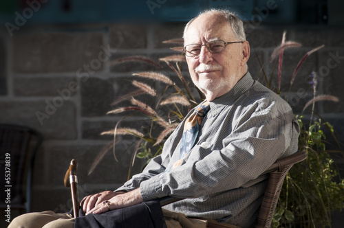 elegant senior gentleman with glasses