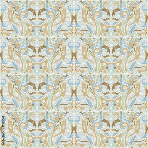 Seamless vintage pattern in pastel tones
