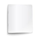 Blank closed copybook on white background.