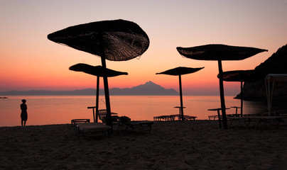 Umbrellas Sunset