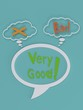 The word very good in speech balloon