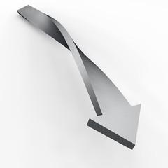 Freccia di metallo torsione