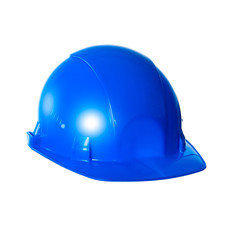 Helmet blue. Isolated on white background