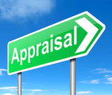 Appraisal concept. poster