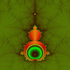 Mandelbrot in Orange and Green