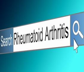 Rheumatoid Arthritis concept.