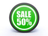 sale circular icon on white background