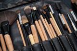 professional makeup brush set close-up poster