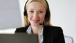 attractive helpline operator in office