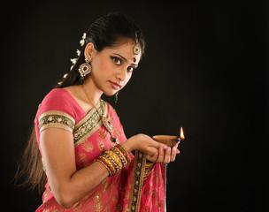 Diwali Indian girl