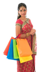 Indian woman shopping