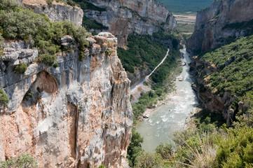 Foz of Lumbier, nature reserve in Navarre (Spain)