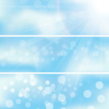 abstract background sky cloud banners