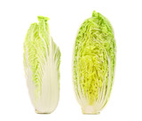 Fresh Chinese cabbage vegetable and slice.