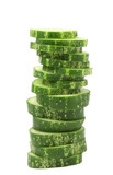Stack juicy cucumber