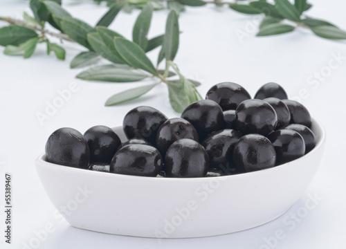 Olive nere, fuoco selettivo