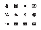 Economy icons on white background.