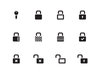 Locks icons on white background.