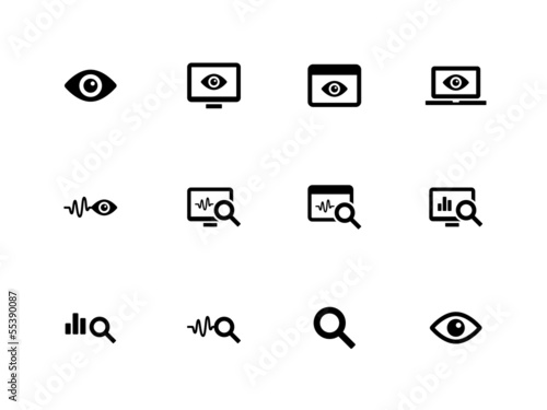 Observation and Monitoring icons on white background.