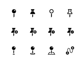 Mapping Pin icons on white background.