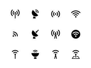 Radio Tower icons on white background.