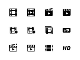 Video icons on white background.