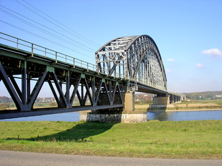 Railway bridge over river Rhine