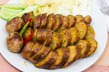 Thai pork sausage