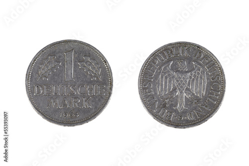One german mark coin
