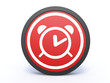 alarm circular icon on white background