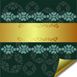 Abstract greeting card with Gold and Green elements
