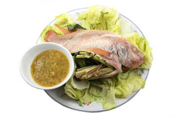 Spicy steamed fish