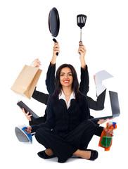 Kind Multi-Tasking Woman